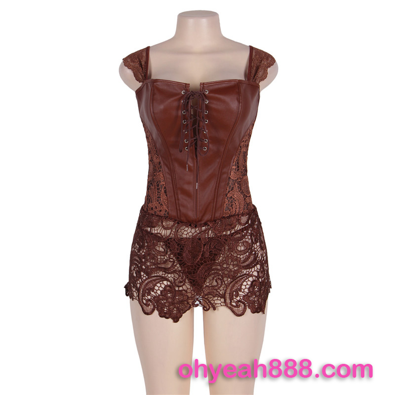 3 colors in stock waist trainer steampunk leather corset