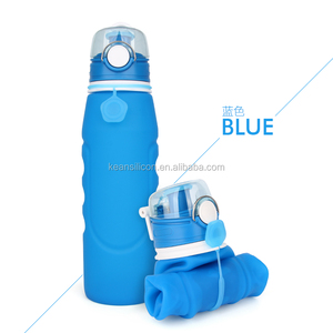 Hot Sale 2018 Outdoor Logo Printed Silicone Sports Water Bottle For Travel Sport