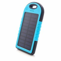 LED light outdoor camping solar charger cell phone mobile solar power bank