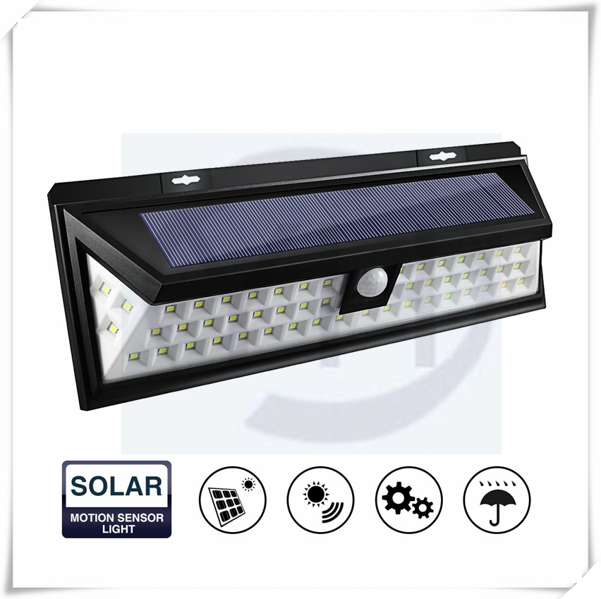 54 LED Solar Motion Sensor Lights Waterproof Solar Energy Powered Security Light with 3 Intelligient Modes