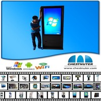 New design floor standing all in one pc monitor industrial pc computer advertisment with kiosk printer price