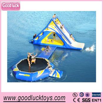 Water Park Giant Inflatable Water Floating Water Slide& Slide ...