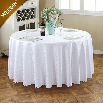 Guangzhou Wholesale Tablecloths Wedding Decorations White Round Table Cloth  For Wedding