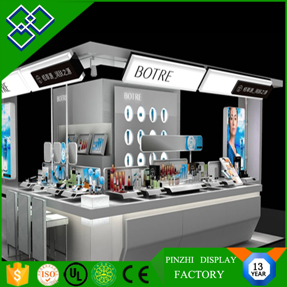 Fashionable cosmetic furniture showcase/display stand for retail shop