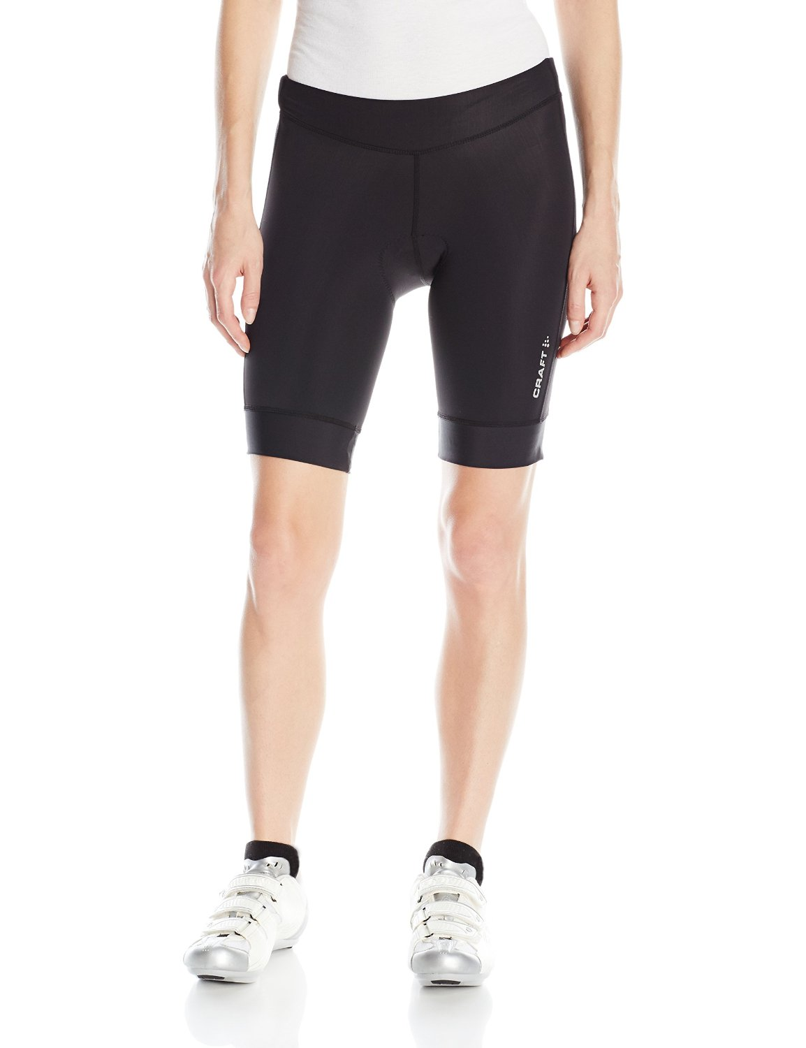 cd5d78263 Get Quotations · Craft Sportswear Women s Motion Bike Cycling with Chamois  Pad Reflective Compression Shorts  protective riding
