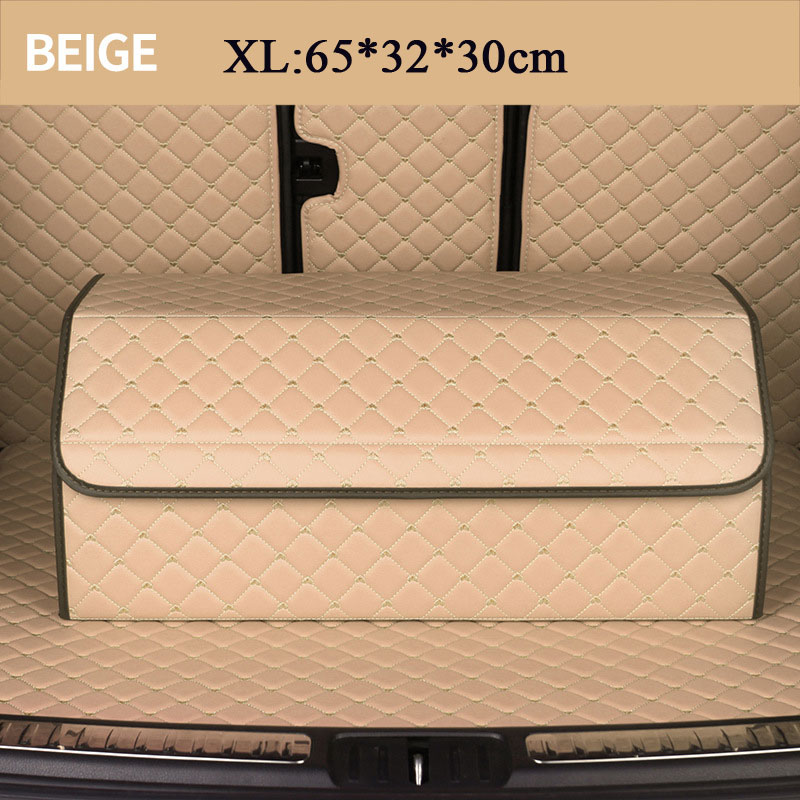 Большой L XL ящик для хранения в багажник автомобиля сумка Органайзер складной водонепроницаемый PU Авто прочный складной грузовой ящик для х...(Китай)