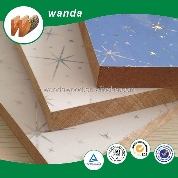1220*2440 size pvc laminated plastic coated mdf board