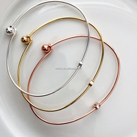2018 Fashion DesignStar Bangle Bracelet - Tiny Star in Silver Gold Rose Gold Custom Bridesmaid Gift Stacking Wedding Ampersand
