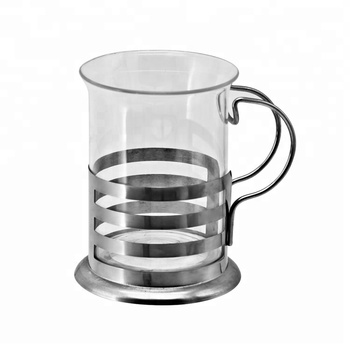 Drinking Glass Coffee Cup With Stainless Steel Coverhandle 150ml Buy Drinking Glass Coffee Cup With Handleglass Coffee Cupstainless Coffee Mug