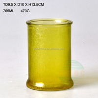 22oz Tea Light Stained Glass Candle Holder