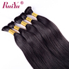 Double drawn russian remy hair extensions,russian human braiding hair bulk no weft