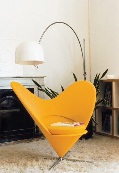 leisure relaxed West stereo alpha Velvet Lounge Verner heart cone sleeping chair