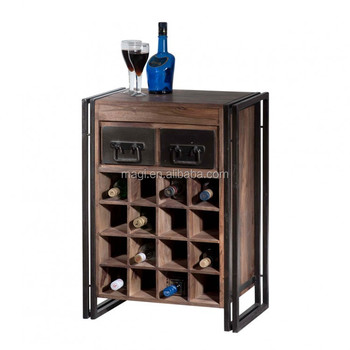 Shabby Chic Decor Solid Wood Wine Cabinet