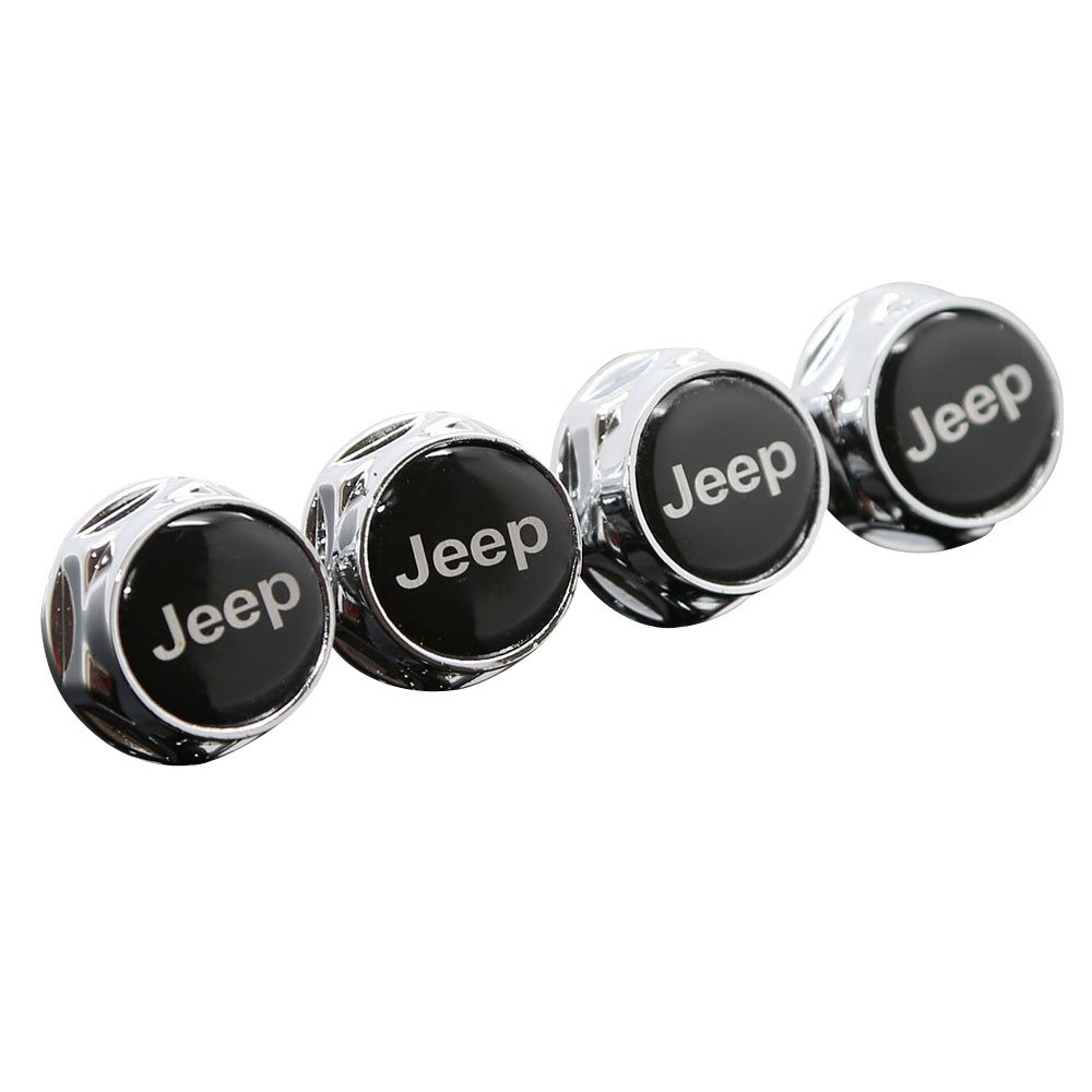 Chrome Metal Sports Style Car License Plate Frame Universal Bolt Screws For JEEP