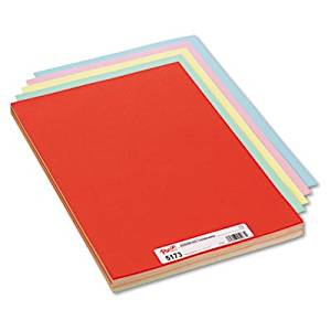Assorted Colors Tagboard, 18 x 12, Blue/Canary/Green/Orange/Pink, 100/Pack, Sold as 100 Sheet