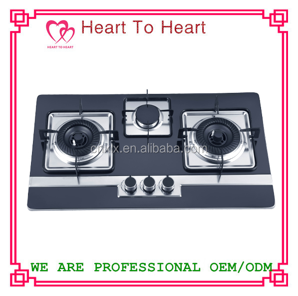 3 burners SS panel Gas Hob/Gas Stove TW1-1