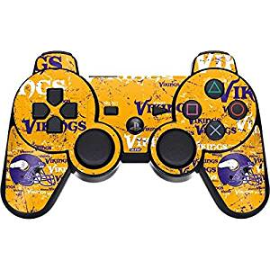 NFL Minnesota Vikings PS3 Dual Shock wireless controller Skin - Minnesota Vikings - Blast Vinyl Decal Skin For Your PS3 Dual Shock wireless controller