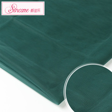 Green Color Knit Soft Thin Polyamide Elastane Tricot Mesh Fabric