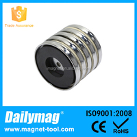 5 Pcs Rare Earth Neodymium Round Base Cup Magnet with Countersunk Hole Neodymium Pot Magnet