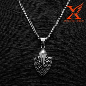 MOQ 3 PCS Fashion Stainless Steel Silver Arrow Pendant Ancient Design Pendant