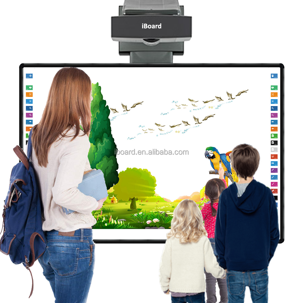 School electronic teaching board smart active board with ultra short throw projector