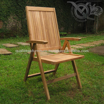 Teak Outdoor Reclining Chairs For Beach Or Swimming Pool VRC 012