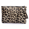 Vintage 2019 New Design Women PU Leather Leopard Clutch Bag