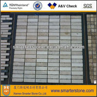 Natural beige/white travertine mosaic tile