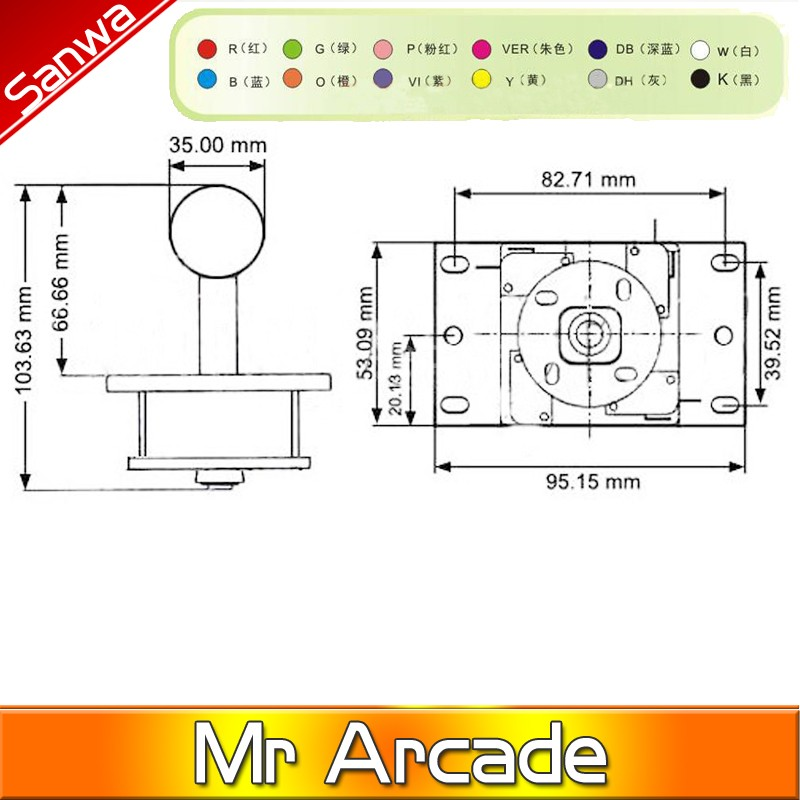 arcade joystick diy kit zero delay arcade diy kit usb encoder to pc arcade sanwa  joystick + sanwa push buttons for arcade mameusd 26 98-46 98/pack