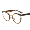 2019 New Round Glasses Frame Women Oversized Metal Eyeglasses Optical Frames Eyewear Clear Lens Black Computer Spectacles 263