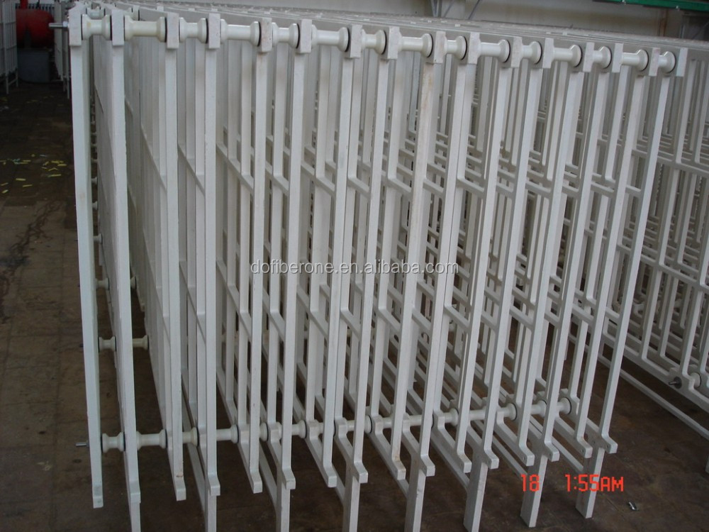 electrolytic nickel anode and cathode film GRP FRP fiberglass bracket