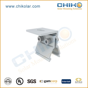 Household use solar mounting structure with hanger bolt for algam rooftop