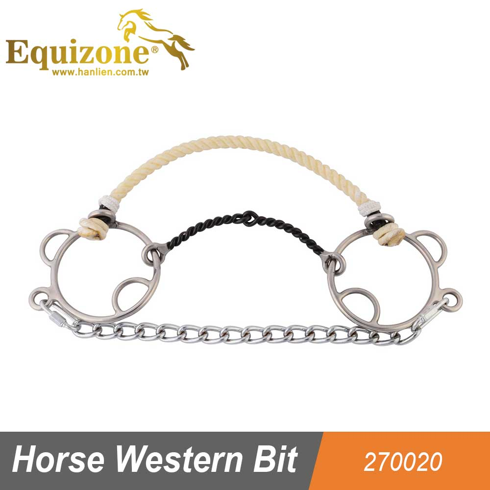 270020 Stainless Steel Ring Gag Horse Racing Western Bit