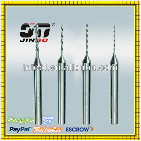 long neck twist tungsten carbide drilling bit 1mm for hardened steel