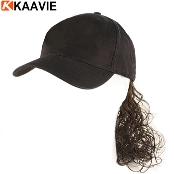 92e8dd5896 Baseball Cap Hat With Blonde Hair - Buy Baseball Cap Hat With Wig ...