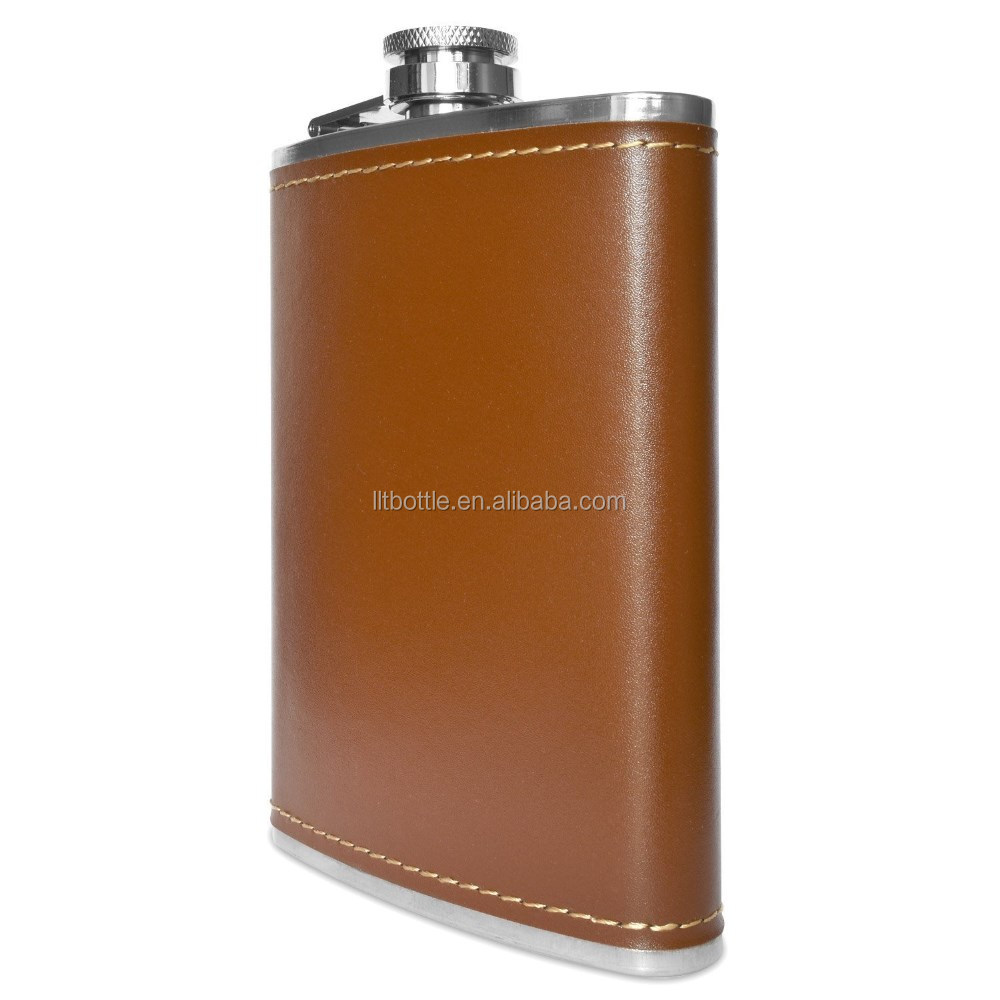Drinking Flask Stainless Steel 8oz Hip Silver Alcohol Whiskey Liquor Flask