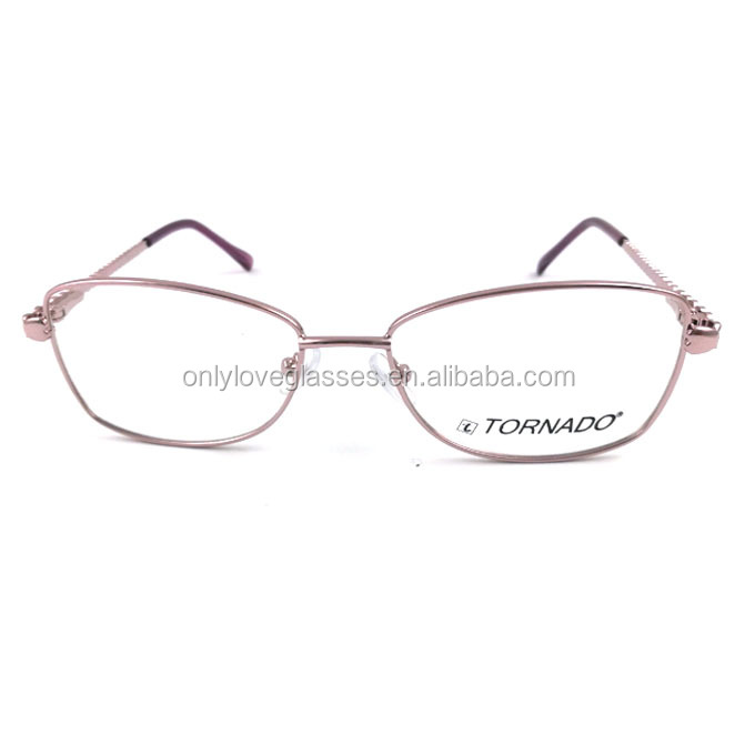 2018 purple frame New Fashion Ladies metal optical frame