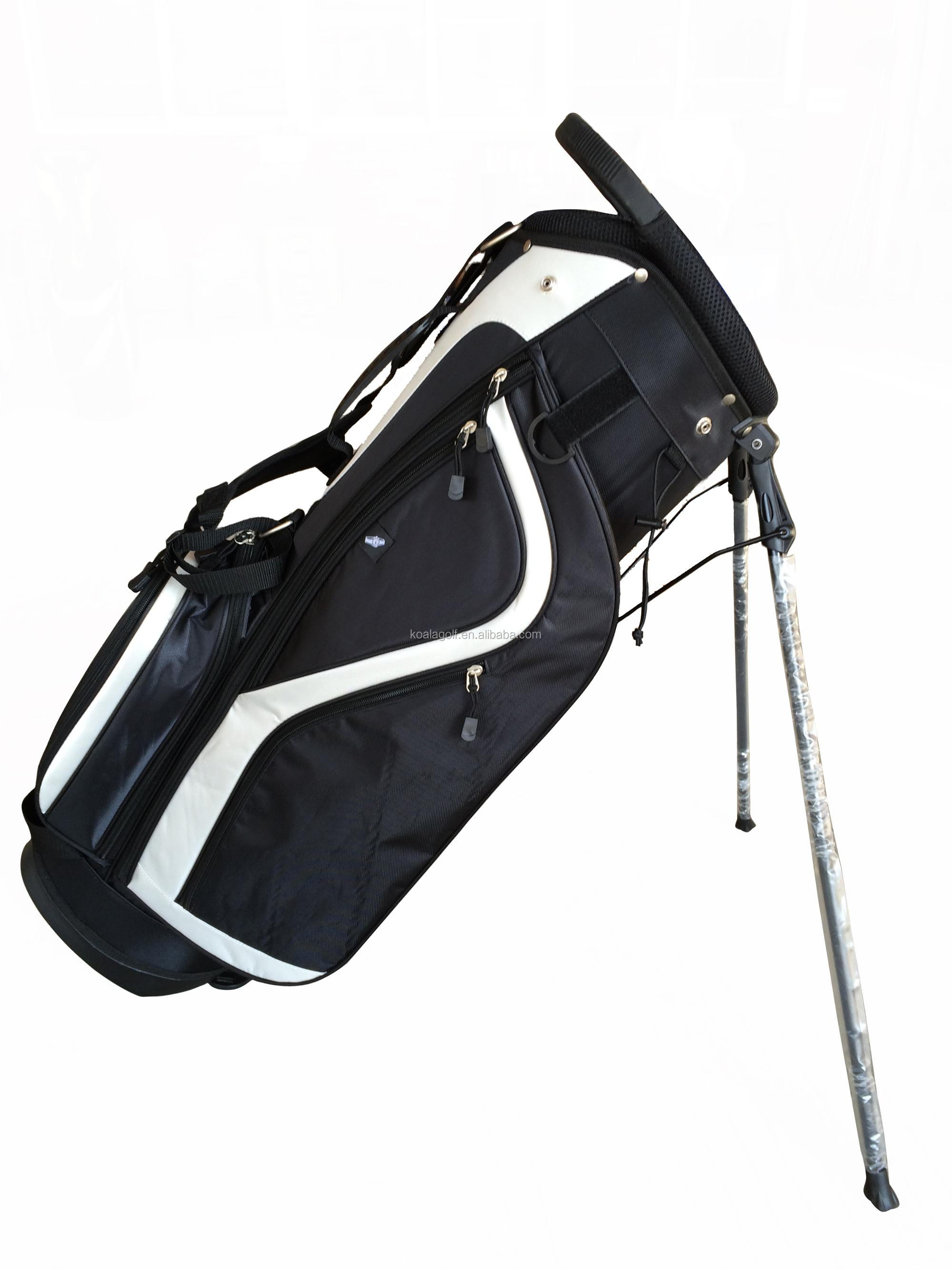 Factory Price Nylon Material  hard cover Golf  travel half Stand Bag