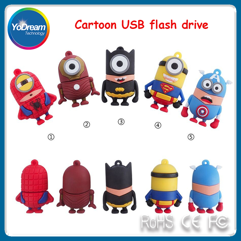 custom creative usb flash drive shell PVC soft plastic usb stick Cute cartoon M beans little U disk shell