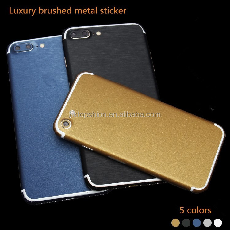 Hot selling for iphone 7 case brushed metal sticker skin cover