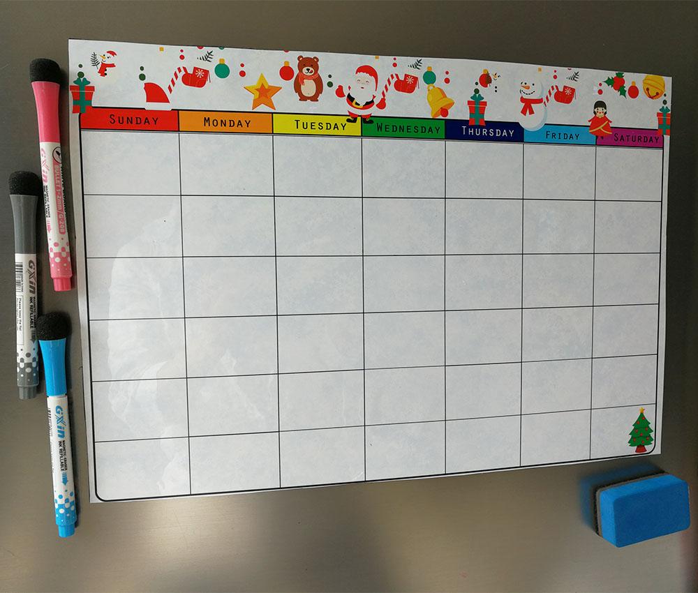 Trocken Abwischbaren Monatliche Magnet Kalender Set,Magnetische ...