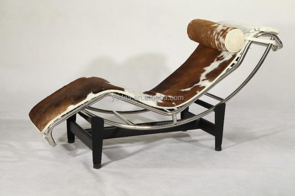 replica meubles chine usine brun et blanc peau de vache le ... - Chaise Longue Le Corbusier Vache