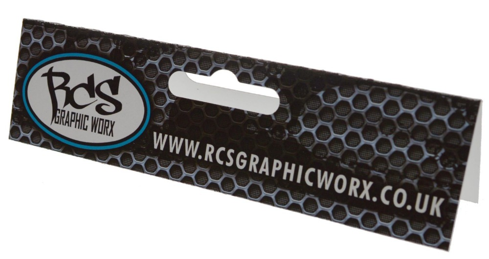 Cardboard custom printed header card