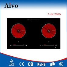 2 burner glass panel built in ceramic hob with lowest price