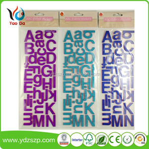 3d wall paper birthday party decorations decor home ABC-fabric letters number sticker