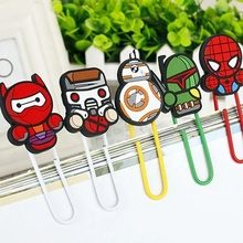 Custom shaped soft 고무 실리콘 unique paper clip
