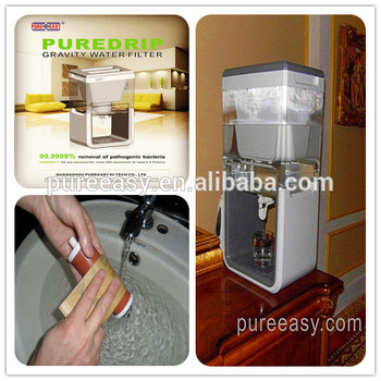 gravity water filter remove chlorine fluoride which can be used as table top water dispenser