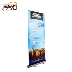 Standard size retractable banner display roll up stand