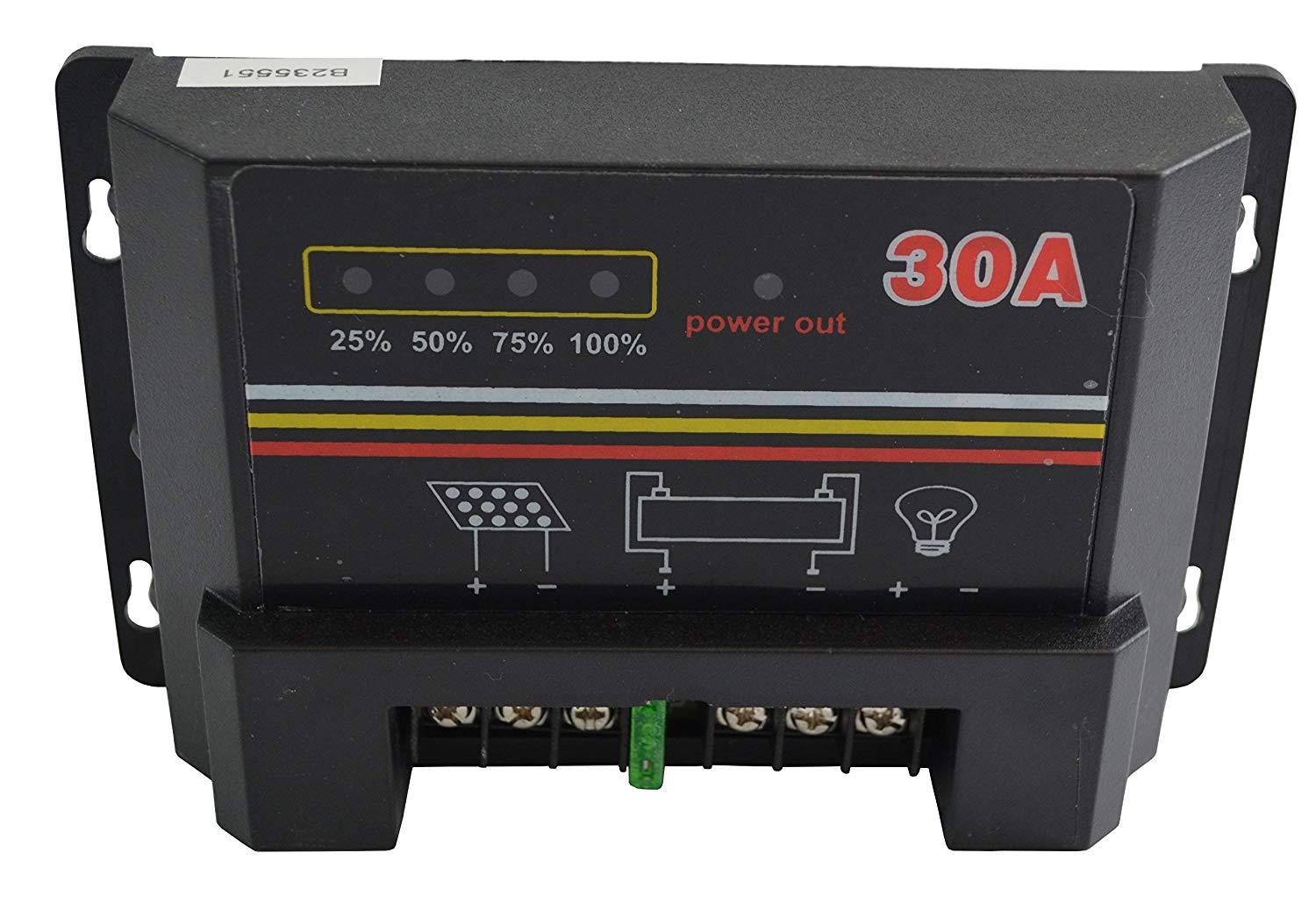10A 20A 30A 12V 24V Solar Charge Controller Auto Switch LED Intelligent Display Solar Panel Battery Regulator Charge Controller Overload Protection Temperature Compensation (30A)