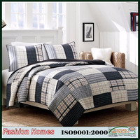 Winter bed patchwork cotton printed twin quilt